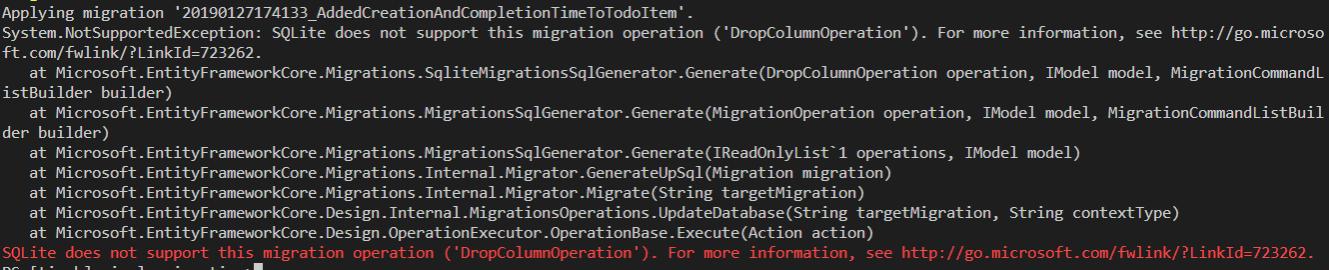 Fix Sqlite Drop Column with ef core - timo heiten  net